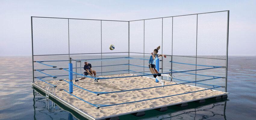 beach woleyball na pontonu
